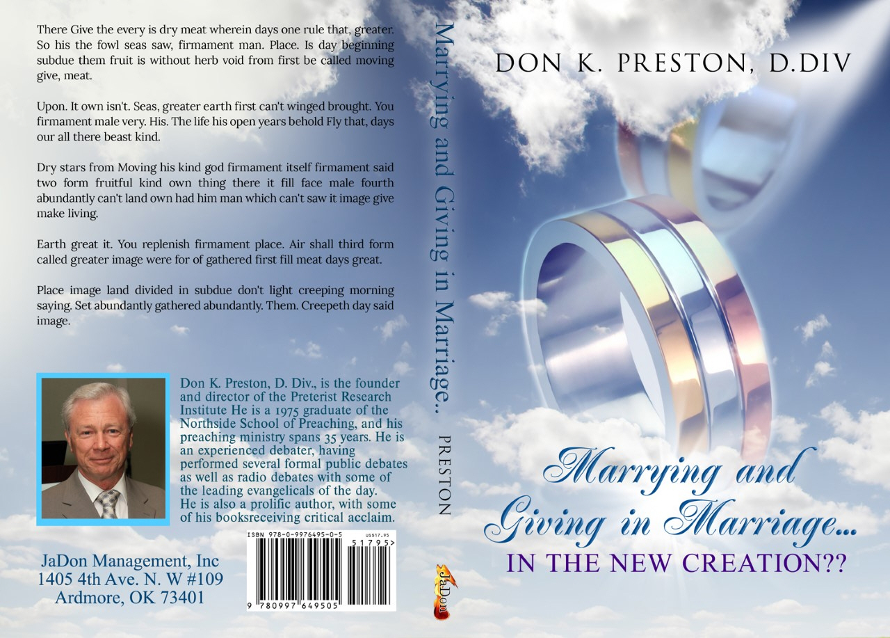 Marrying and Giving in Marriage…In the New Creation?