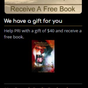 """For A Gift Of $40 Please Send Me """"70 Weeks Are Determined For The Resurrection"""""""